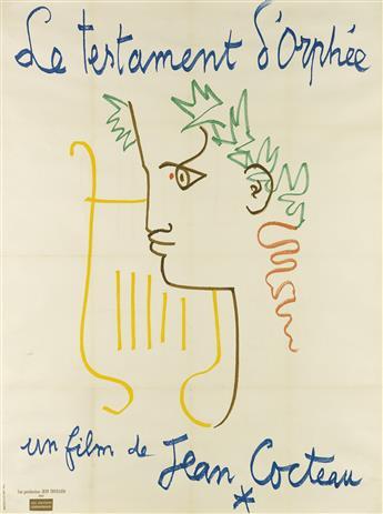 JEAN COCTEAU (1889-1963). LE TESTAMENT DORPHÉE. 1959. 63x46 inches, 160x118 cm. Bedos & Cie, Paris.