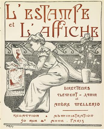 VARIOUS ARTISTS. LESTAMPE ET LAFFICHE. Three bound volumes. 1897-1899. Each approximately 10x9 inches, 27x23 cm.