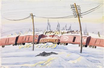 CHARLES BURCHFIELD The Freight Train.