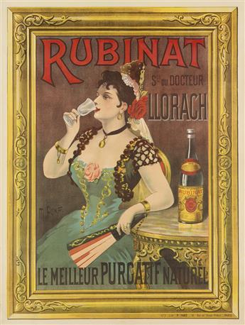 M. PONAF (DATES UNKNOWN). RUBINAT. Circa 1905. 63x47 inches, 160x120 cm. P. Fano, Paris.
