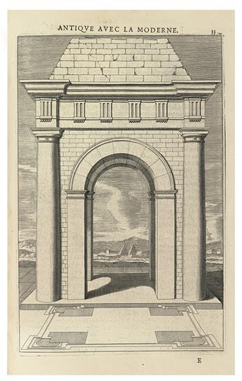 ARCHITECTURE.  FRÉART, ROLAND, SIEUR DE CHAMBRAY. Parallele de lArchitecture Antique et de la Moderne.
