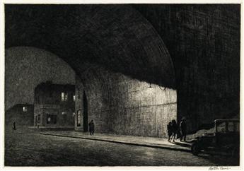 MARTIN LEWIS Arch, Midnight.