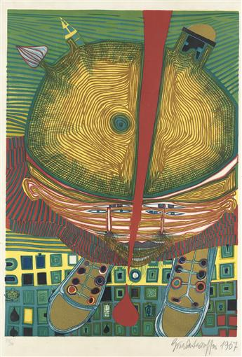 FRIEDENSREICH HUNDERTWASSER The Boy with Green Hair.