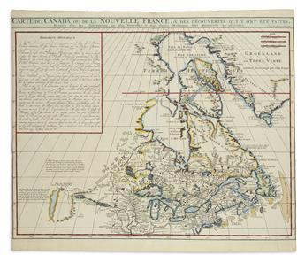 (GREAT LAKES.) Chatelain, Henri. Carte du Canada ou de la Nouvelle France.