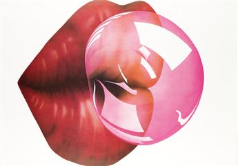 MICHAEL ENGLISH (1941-2009). [BUBBLE GUM] & [BALL.] Two posters. 1970 & 1972. Each 35 1/4x24 1/2 inches, 89 1/2x62 1/4 cm. Shenval Pres