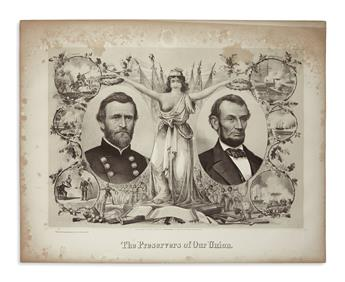 (PRINTS--MEMORIAL.) Kimmel & Forster; lithographers. The Preservers of our Union.