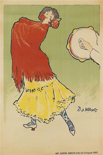 DAVID OSSIPOVITCH WIDHOPFF (1867-1933). [PILAR MONTERO.] Circa 1901. 51x34 inches, 130x87 cm. Eugène Mauler, Paris.