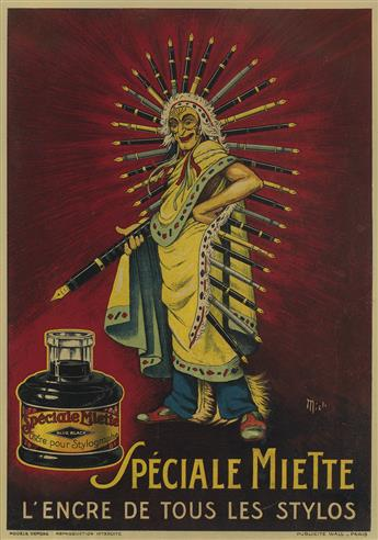 MICH (MICHEL LIEBEAUX, 1881-1923). [ADVERTISEMENTS.] Group of 3 small format posters. Circa 1920. Sizes vary.