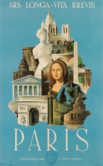 LAJOS MARTON (1891-1952). PARIS / ARS LONGA - VITA BREVIS. 1936. 39x24 inches, 99x62 cm. L. Danel, Paris.