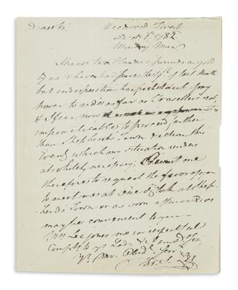 LEE, THOMAS SIM. Autograph Letter Signed, Tho. S. Lee, to General Horatio Gates,