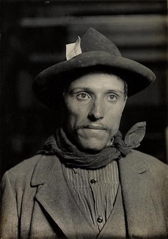 HINE, LEWIS W. (1874-1940) Italian laborer, Ellis Island.