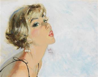 HEDLEY RAINNIE. Girl blowing a kiss.