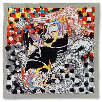 FRANK STELLA The Whale-Watch Shawl.