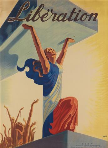 PHILI (DATES UNKNOWN). LIBÉRATION. 1944. 60x44 inches, 153x112 cm.