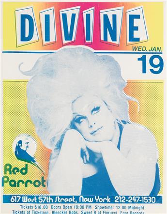 DESIGNER UNKNOWN. DIVINE / RED PARROT. 1983. 24x19 inches, 61x48 cm.