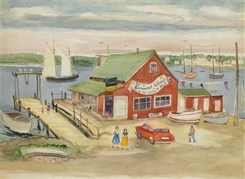 PALMER HAYDEN (1890 - 1973) Untitled (The Carousel Wharf).