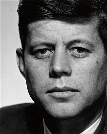 HALSMAN, PHILIPPE (1906-1979) John F. Kennedy (as a Representative in Congress).
