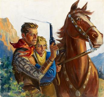 (PULP. WESTERN.) CHARLES WRENN. Trouble on the Crooked Horn.