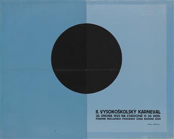 VACLAV ROSTLAPIL (1901-1979). II. VYSOKOSKOLSKY KARNEVAL. 1925. 37x56 inches, 95x143 cm. Odehnal, Brno.