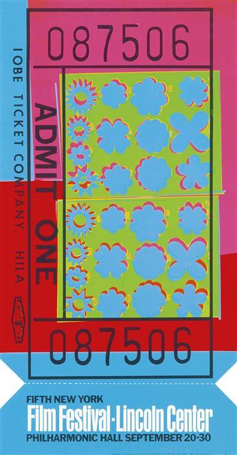 ANDY WARHOL (1928-1987). FILM FESTIVAL - LINCOLN CENTER. 1967. 45x23 inches, 114x59 cm. List Art Foundation, Inc., [New York.]