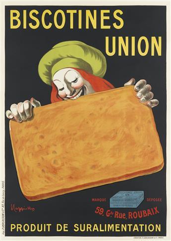 LEONETTO CAPPIELLO (1875-1942). BISCOTINES UNION. Circa 1906. 54x38 inches, 138x97 cm. P. Vercasson & Cie., Paris.