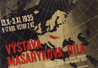 ANTONIN NAVRATIL (1902-1975). VYSTAVA MASARYKOVA DILA. 1935. 27x38 inches, 68x97 cm. Kucera, Prostejov.
