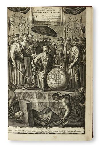 TRAVEL  NIEUHOFF, JAN. Legatio Batavica ad magnum Tartariae, Chamum Sungteium, Modernum Sinae Imperatorem. 1668. Lacks the portrait.