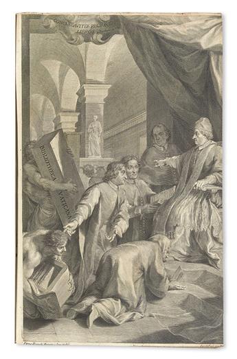 ASSEMANI, GIUSEPPE SIMONE. Bibliotheca orientalis Clementino-Vaticana.  4 vols.  1719-28