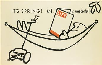 ROY MCKIE (1921-2015). ITS SPRING! AND . . . LIFE IS WONDERFUL! 1955. 27x43 inches, 70x110 cm.