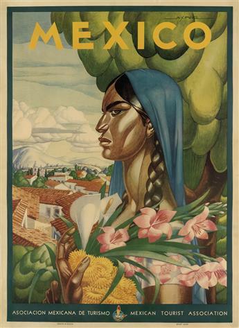A.X. PEÑA (DATES UNKNOWN). MEXICO. 1945. 37x27 inches, 94x68 cm.