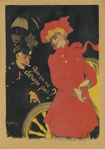 JULES-ALEXANDRE GRÜN (1868-1938). [PNEUS FERRES GALLUS.] 1901. 16x24 inches, 42x61 cm. [Chaix, Paris.]