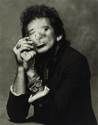 ALBERT WATSON (1942- ) Keith Richards smoking.