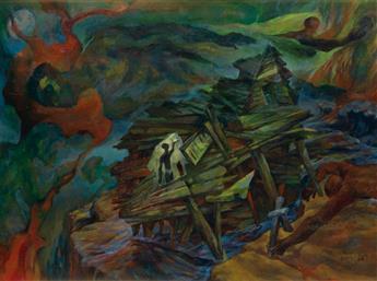 JAMES C. MCMILLAN (1925 -   ) Contemporary Precipice/60s Symbols.
