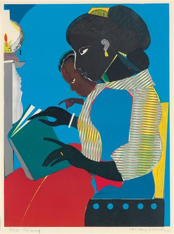 ROMARE BEARDEN (1911 - 1988) The Lamp.