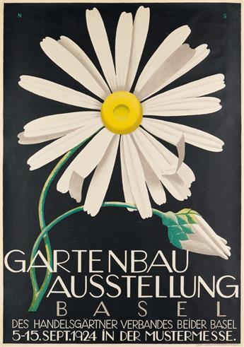 NIKLAUS STOECKLIN (1896-1982). GARTENBAU AUSSTELLUNG BASEL. 1924. 50x35 inches, 127x90 cm. W. Wassermann, Basel.