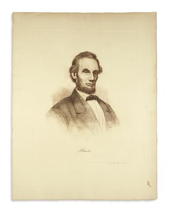 (PRINTS--MEMORIAL.) Group of 10 prints of Lincoln from the late 19th and early 20th centuries.