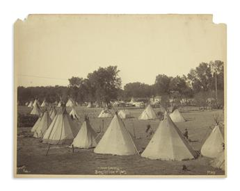 (AMERICAN INDIANS--PHOTOGRAPHS.) Rinehart, Frank A. Indian Congress--Birds Eye View of Camps.