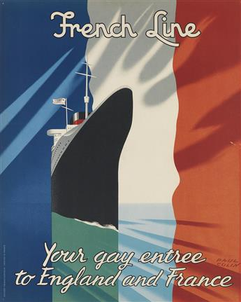 VARIOUS ARTISTS. [TRAVEL / OCEAN LINERS.] Group of 3 posters. Sizes vary.