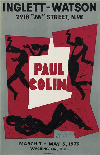 PAUL COLIN (1892-1986). PAUL COLIN / INGLETT - WATSON. Group of 3 posters. 1979. Each approximately 23x15 inches, 59x38 cm. Deprest, Pa