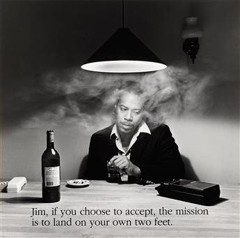 CARRIE MAE WEEMS (1953 -   ) Jim, if you choose to accept, the mission is to land on your own two feet.