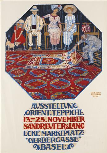 BURKHARD MANGOLD (1873-1950). AUSSTELLUNG ORIENT TEPPICHE. 1913. 38x27 inches, 98x69 cm. W. Wassermann, Basel.