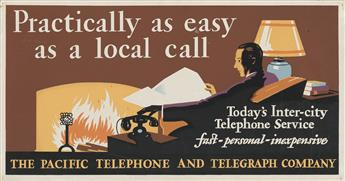 DESIGNERS UNKNOWN. [TELEPHONE & TELEGRAPH SERVICES.] Group of 10 small window cards. Circa 1930s. Sizes vary.