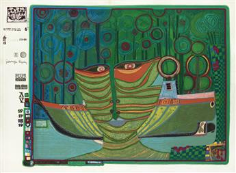 FRIEDENSREICH HUNDERTWASSER Columbus Rainy Day India.