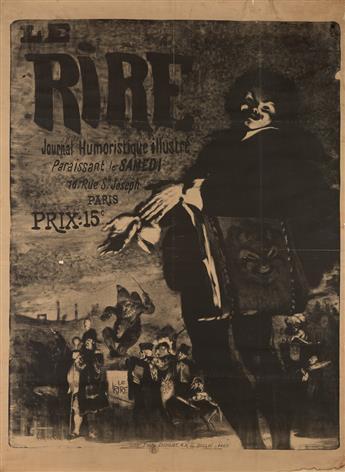 LOUIS ANQUETIN (1861-1932). LE RIRE. 1894. 58x42 inches, 147x108 cm. Paul Dupont, Paris.