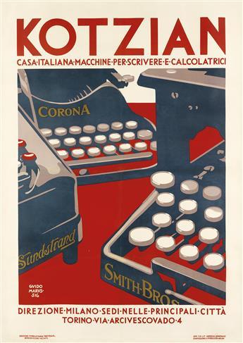 GUIDO MARUSSIG (1885-1973). KOTZIAN. 1924. 55x39 inches, 140x99 cm. Impresa, Milan.