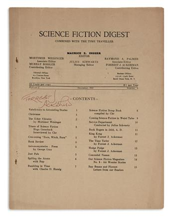 (SCIENCE FICTION.) Ackerman, Forrest J. Small Group of Fanzines.