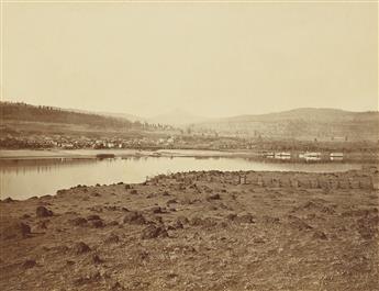 CARLETON WATKINS (1829-1916) The Dalles, Oregon, from Rockland, Washington Territory.