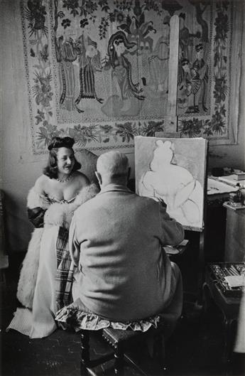 HENRI CARTIER-BRESSON (1908-2004) Henri Matisse and model, Venice, France.