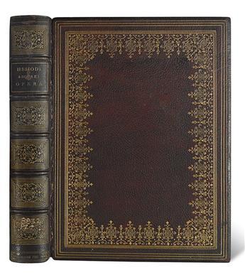 BODONI PRESS.  Hesiod. Opera omnia.  1785.  Bound by Pawson & Nicholson.