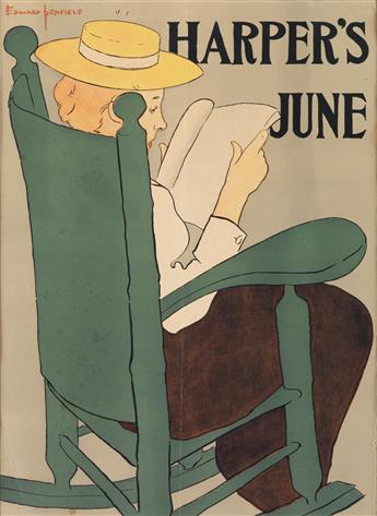 EDWARD PENFIELD (1866-1925). HARPERS JUNE. 1896. 18x13 inches, 47x34 cm.